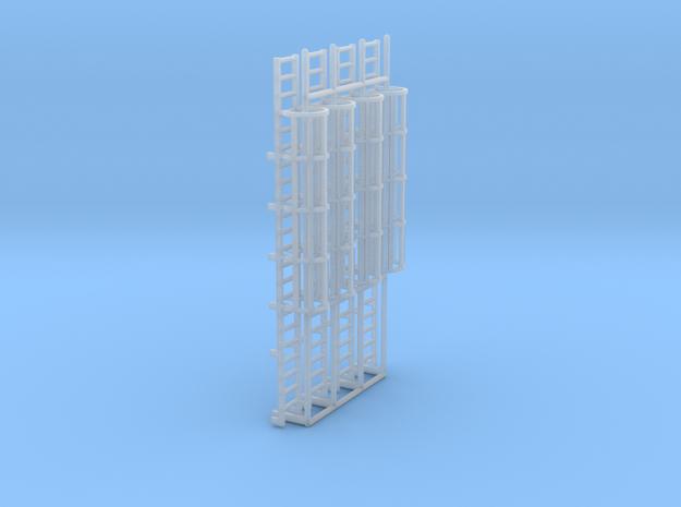1:100 Cage Ladder 70mm Platform in Smooth Fine Detail Plastic
