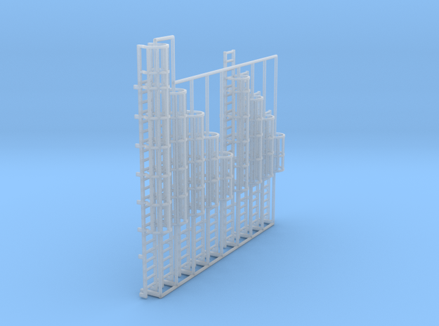 1:100 Cage Ladder Assorted 8pc in Smooth Fine Detail Plastic
