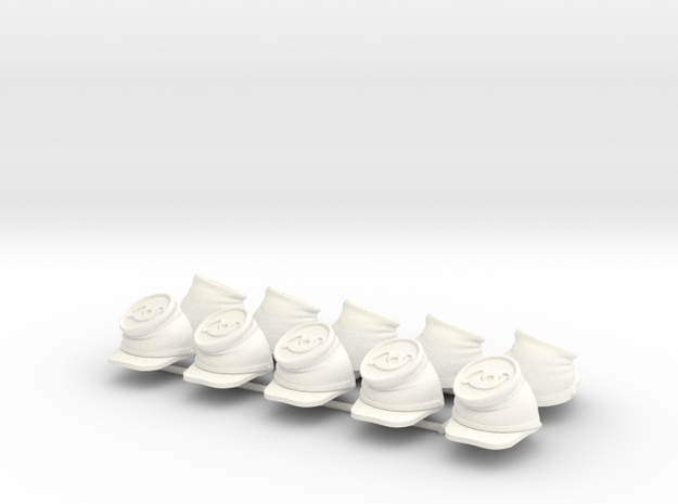 ACW BUMMER INFANTRY X10 in White Processed Versatile Plastic