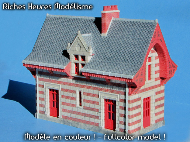 C-Hogch01b - Chenonceau train station in Red Processed Versatile Plastic