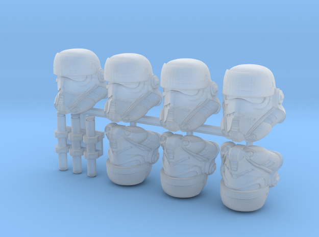Security Buckethead Squad (x7) in Smoothest Fine Detail Plastic