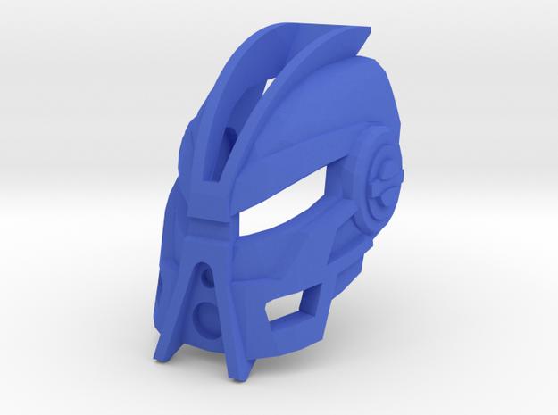Noble Kanohi Faxon in Blue Processed Versatile Plastic