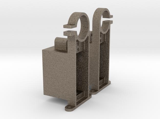 Servo Mounts in Matte Bronzed-Silver Steel