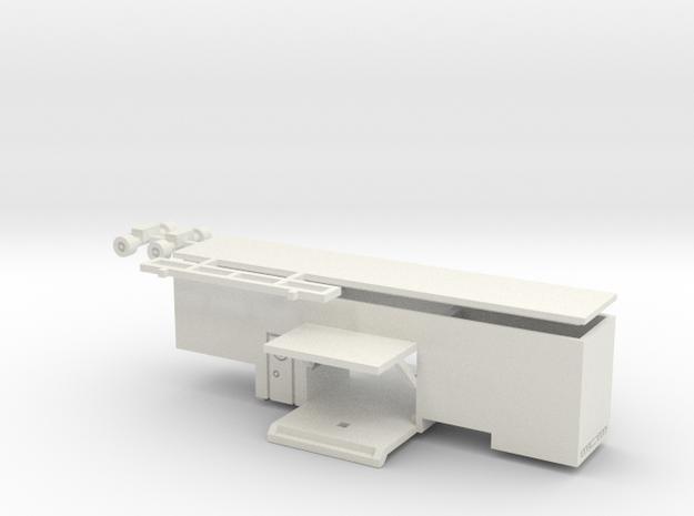 Auflieger Eingang für 1:160 (n scale) in White Natural Versatile Plastic