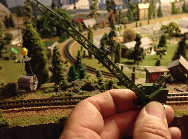 US Army Crane in Smooth Fine Detail Plastic