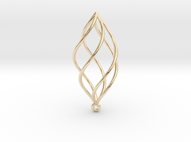 Spiral Earring in 14K Yellow Gold