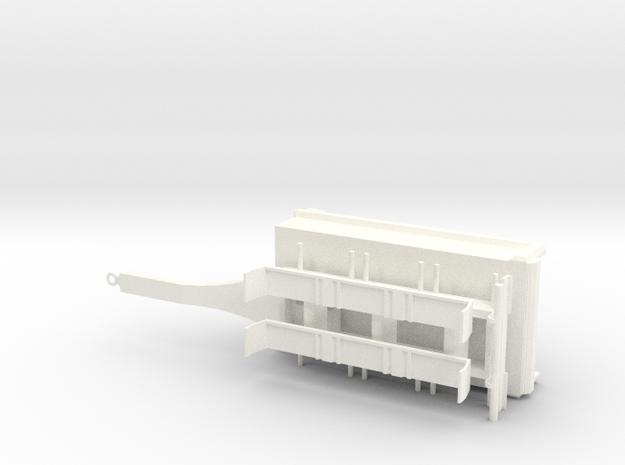 Tipphenger-kasse-rettskjerm in White Processed Versatile Plastic