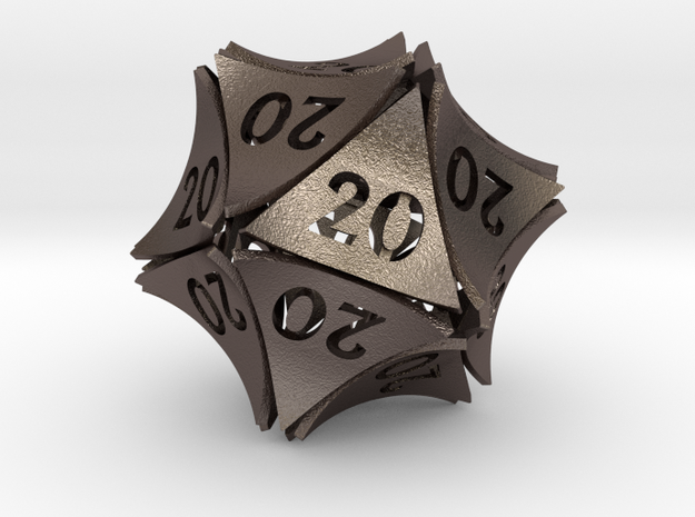 Peel D20 (All 20's version) in Polished Bronzed-Silver Steel