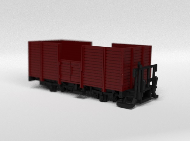 RhB L6008 Open Freight Wagon in Smooth Fine Detail Plastic