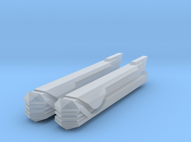 Pointy-Eared Adversary Nacelles 3 in Smooth Fine Detail Plastic