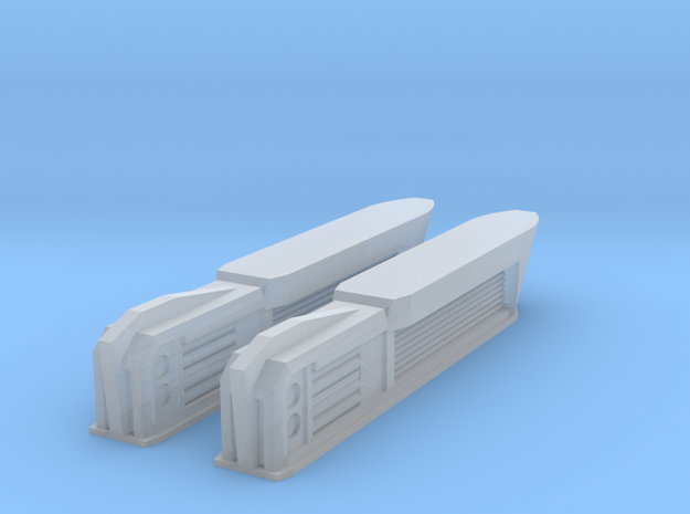 2500 Pointy-Eared Adversary Nacelles 4 in Smooth Fine Detail Plastic