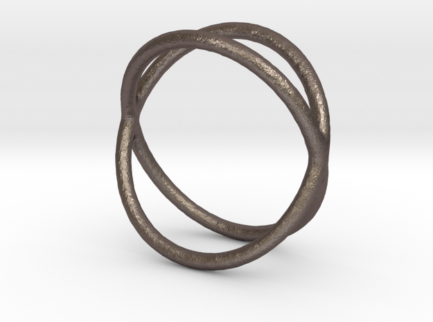 Ring 13 in Polished Bronzed-Silver Steel