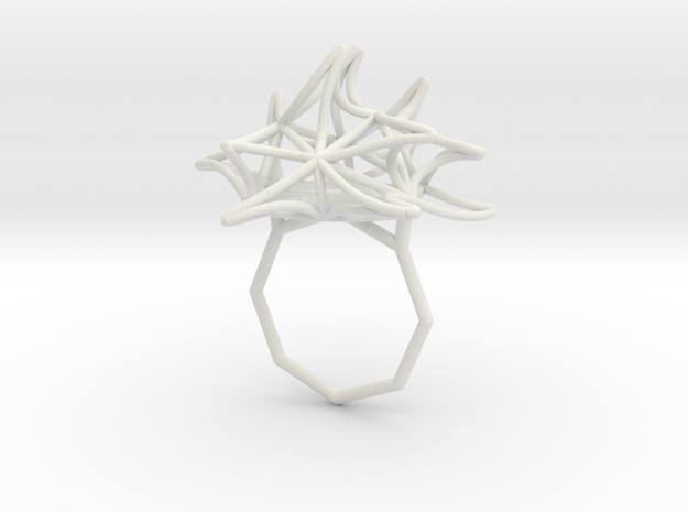 Fire Ring (Small) 9 in White Natural Versatile Plastic