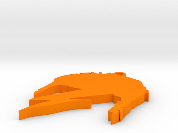 Bowie flash in Orange Processed Versatile Plastic