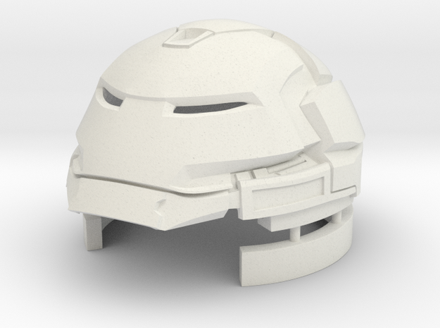 Hulkbuster Head (large/with rotation/std res) in White Natural Versatile Plastic