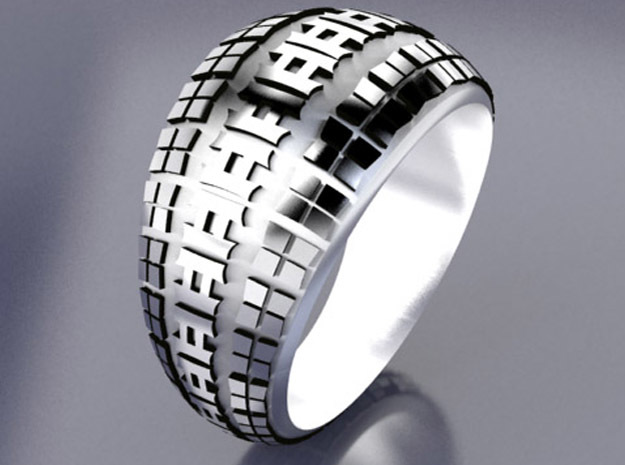 BMX Tire Tread Ring in Stainless Steel