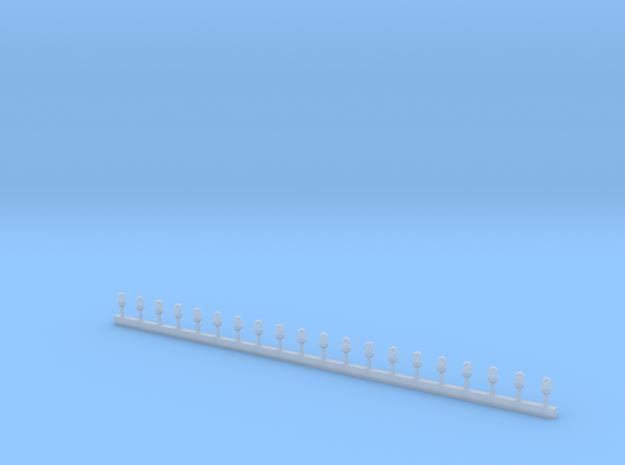 Stabblaulichter 1-43 in Smooth Fine Detail Plastic