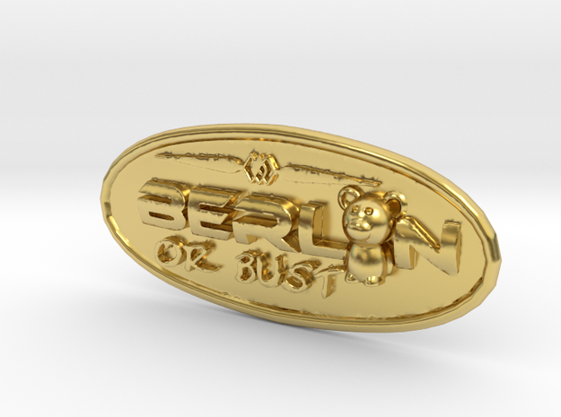 Oval-Bär-bust-rand in Polished Brass