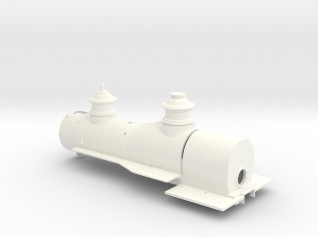 Wagontop Boiler for the BLI On30 C-16 in White Processed Versatile Plastic