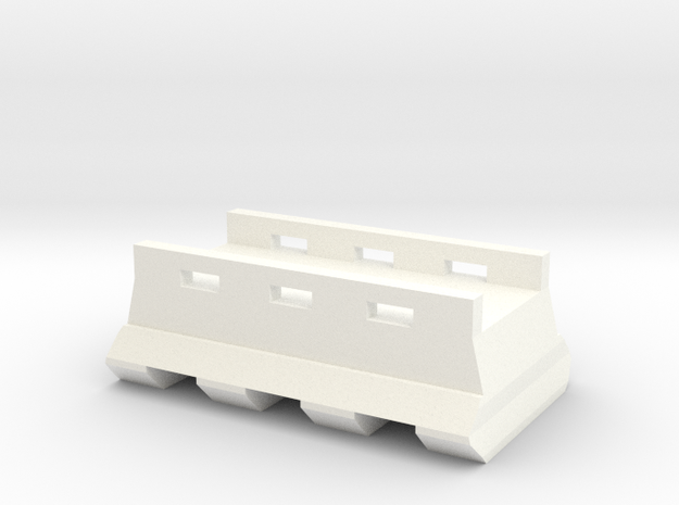 M4 Buffer Tube Bottom Picatinny Rail (3 Slots) in White Processed Versatile Plastic