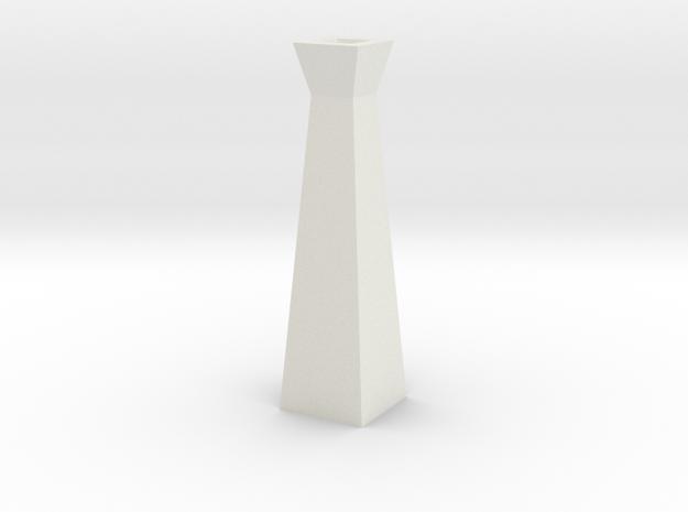 GeoVase Small in White Natural Versatile Plastic