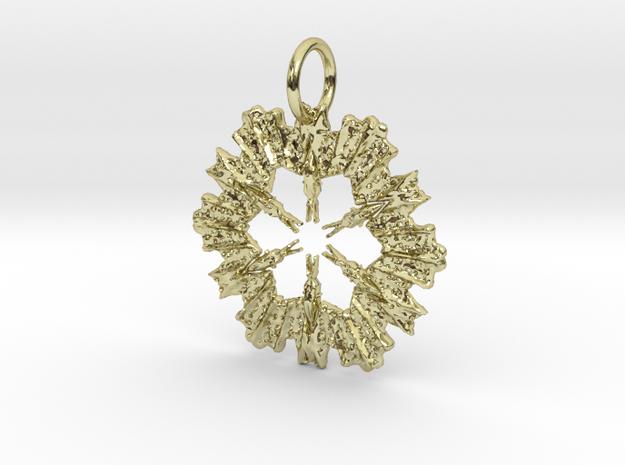 Star Arrow Pendant in 18K Yellow Gold: Medium