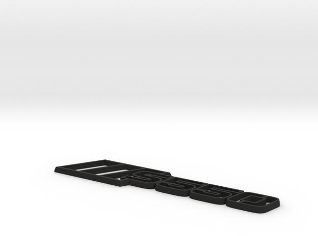 Ford Mustang S550 Tri-Bar Fender Badge - Outline in Black Natural Versatile Plastic
