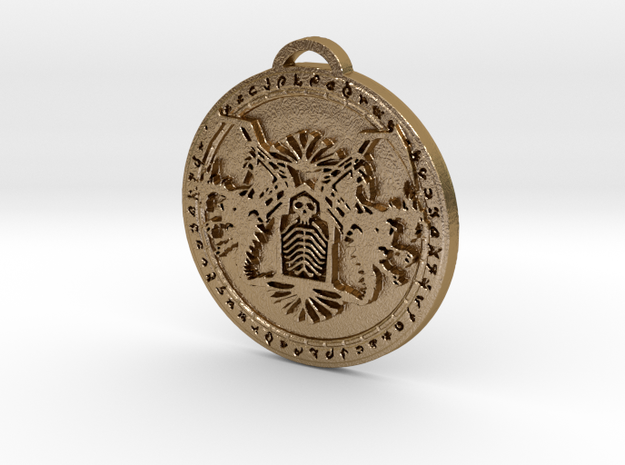 Death Knight Class Medallion in Polished Gold Steel