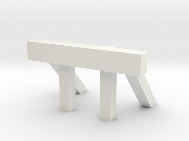 Skarloey Buffer S4 Variant OO9 Scale in White Natural Versatile Plastic