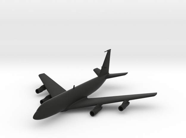 Boeing 707 in Black Natural Versatile Plastic