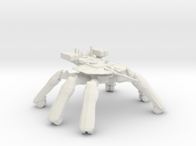 T-58A2 Main Battle Tank in White Natural Versatile Plastic: 6mm