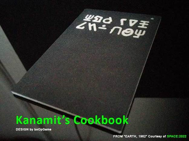 boOpGame Shop - Kanamit's Cookbook in Natural Full Color Sandstone