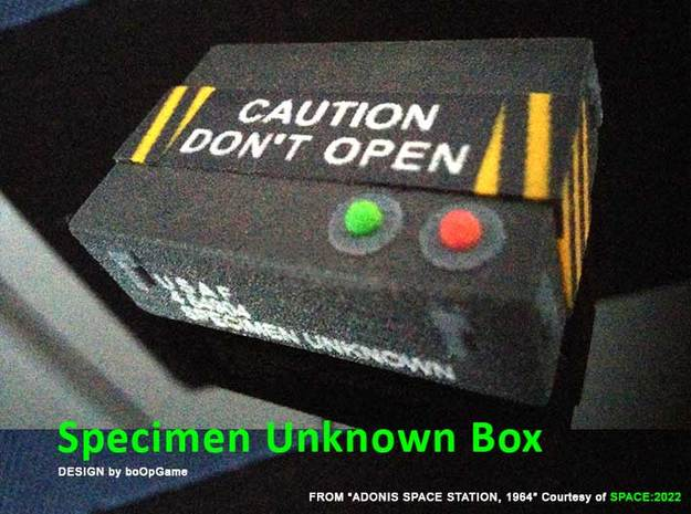 boOpGame Shop - Specimen: Unknown Box in Natural Full Color Sandstone