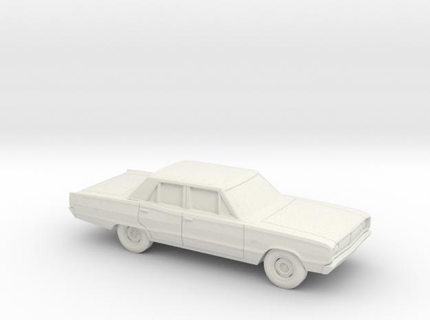 1/64 1967 Dodge Coronet Sedan in White Natural Versatile Plastic
