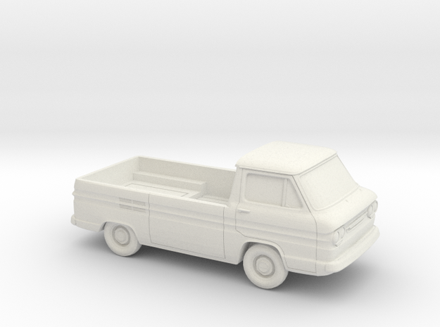 1/64 1961-65 Chevy Greenbrier PickUp in White Natural Versatile Plastic