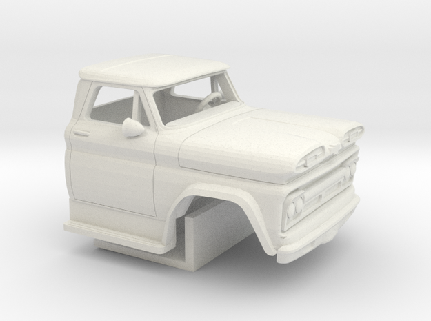 1/64 1960-61 Chevrolet C 50 Cab&Interior in White Natural Versatile Plastic