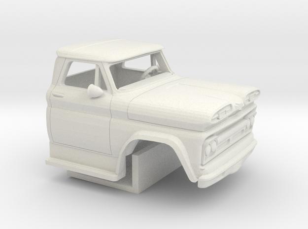 1/64 1960-61 Chevrolet C 50 Cab&Interior in White Natural Versatile Plastic