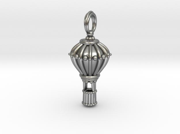 Balloon Keepsake Charm Large in Natural Silver