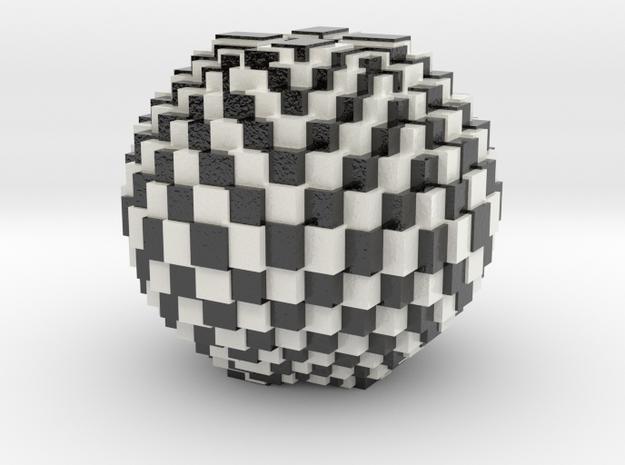 Chess Bowl in Glossy Full Color Sandstone