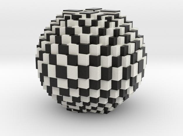 Chess Bowl in Matte Full Color Sandstone
