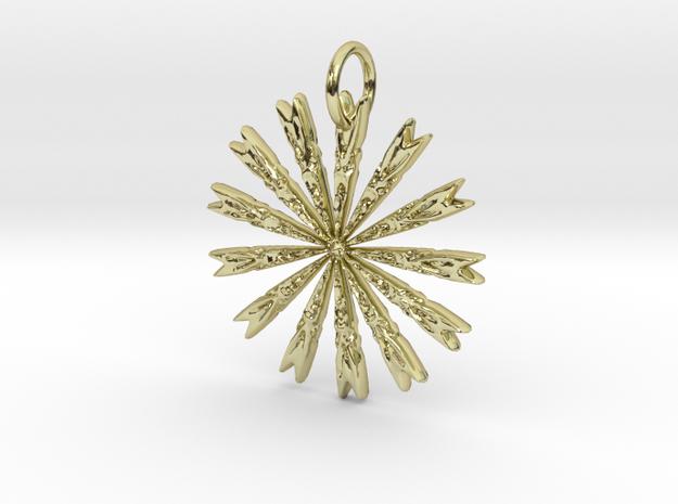 Native Arrow Pendant in 18K Yellow Gold: Medium