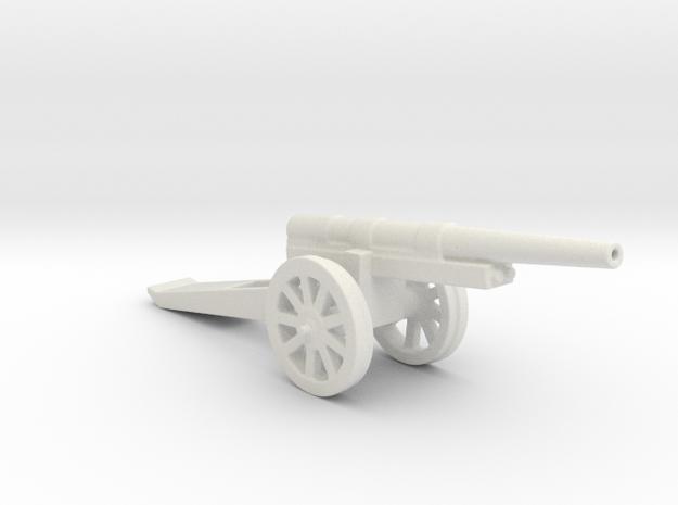 13cm L 35 Kanone  09 spoked 1/72 in White Natural Versatile Plastic