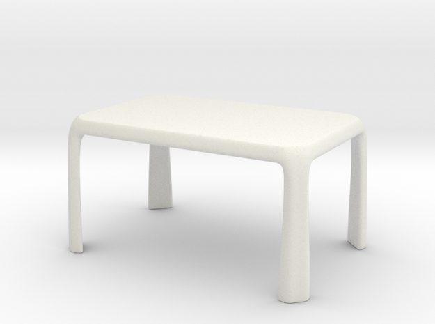 1:25 - Miniature Modern Dining Table  in White Natural Versatile Plastic
