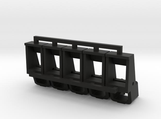 WE F226 feeding lips x5 in Black Natural Versatile Plastic