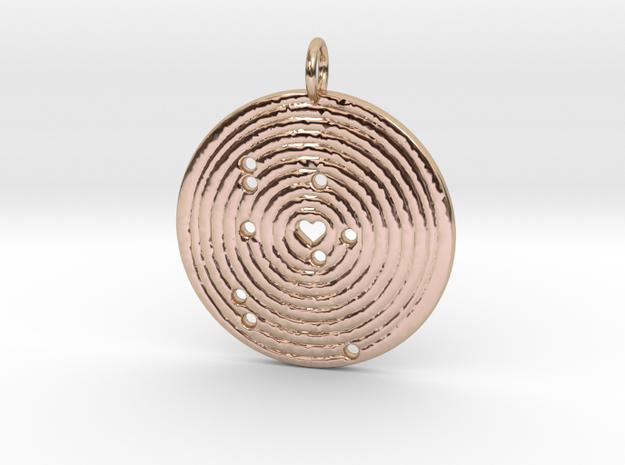 Solar Alignment Memento in 14k Rose Gold Plated Brass