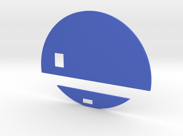 Version 2 Jurassic World Nametag Blue Pieces in Blue Processed Versatile Plastic