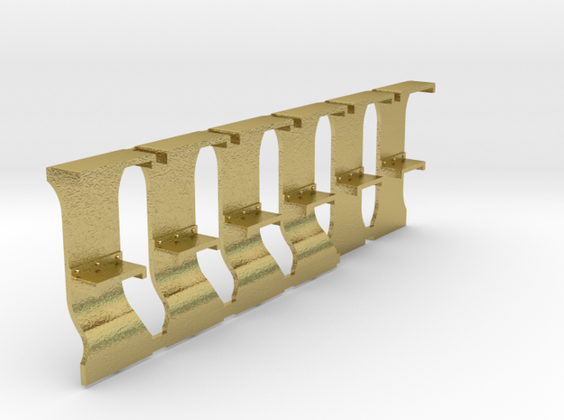 NS 5500 / HSM 700 opstaptreden  in Natural Brass