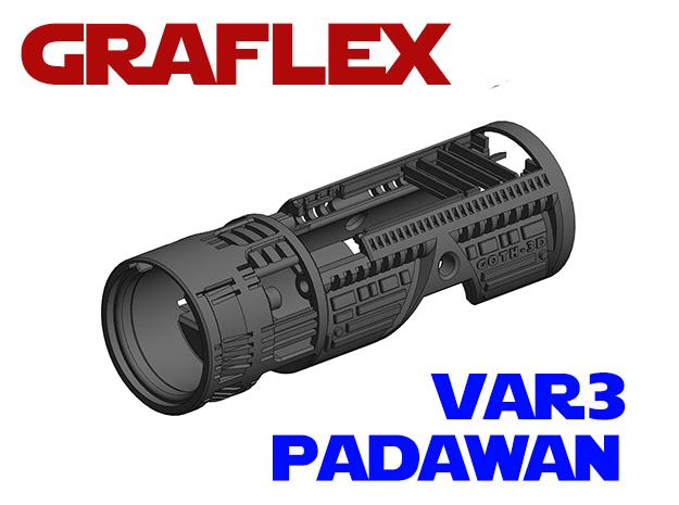 Graflex Padawan Var3 - Lightsaber Chassis  in White Natural Versatile Plastic