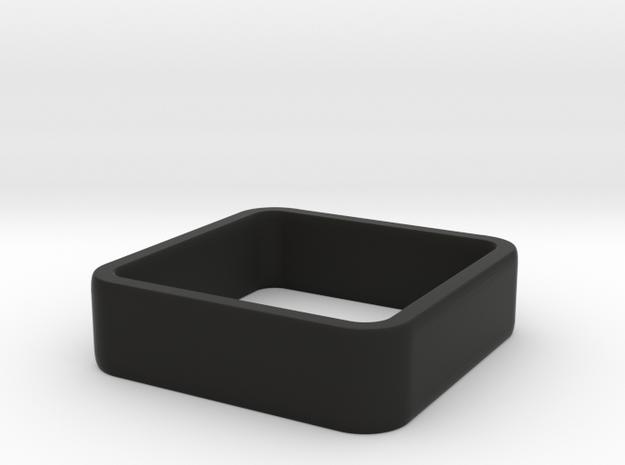 quadrato size 8 in Black Natural Versatile Plastic