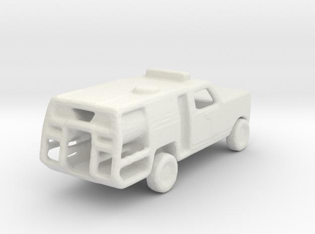 1/200 Scale Dodge Fire Pickup in White Natural Versatile Plastic